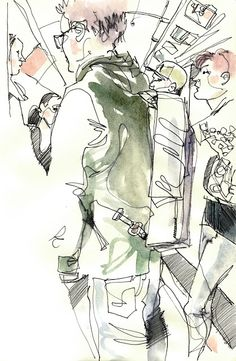 Urban Sketchers: One-line drawing
