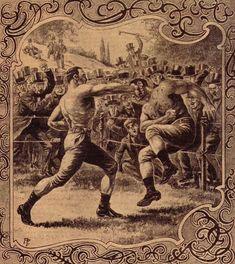 Vintage boxeo a puño limpio
