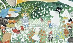 The Moomin Family - Illustration by Tove Jansson Moomin Books, Les Moomins, Moomin Valley, Tove Jansson, Book Images, Children's Book Illustration, Illustrations Posters, Painting & Drawing, Drawings