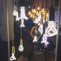 These bulbs. @plumen @icff_nyc #icff #nycxdesign #foragedoesnyc