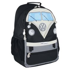 These uniquely designed backpacks, shown here in red, contain a laptop compartment, padded breathable back panel and many more quality features which assure convenience, perfect fit and a great look. Distributed by Enesco VW Official Licensed Product, ©2015 Enesco Ltd. #VW #VWcampervan #VWnostalgia