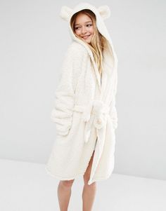 Image 1 ofASOS Fluffy Cloud Robe with Ears