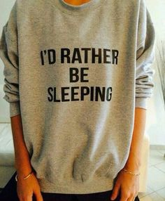 Sweaters with truthful words on them are to die for!