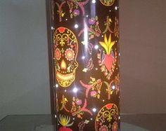 Luminária em PVC Caveiras Mexicanas 01