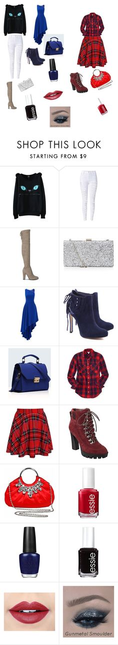 """Untitled #37"" by leticiaafonso-b ❤ liked on Polyvore featuring Halston Heritage, Schutz, Relaxfeel, Aéropostale, Nine West, Essie, OPI and Fiebiger"