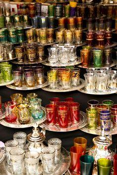 Típicos vasos marroquíes..