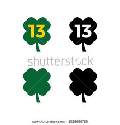 A set of clover icons