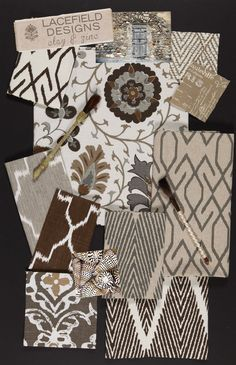 clay mood board- Lacefield Designs textiles