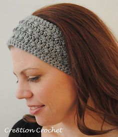 Free pattern for this Sleek and skinny headband/ ear warmer
