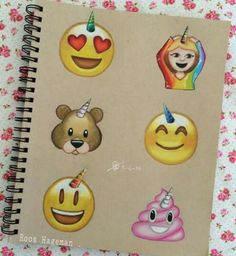 Emoji s drawing Amazing Drawings, Beautiful Drawings, Easy Drawings, Emoji Drawings, Social Media Art, Emoji Love, Apps, Smileys, Cartoon Art