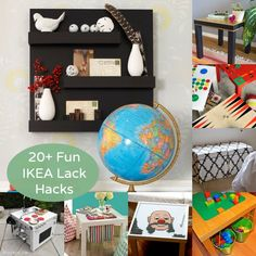 20+ IKEA Hacks Using the Lack Side Table - awesome budget hacks using a $10 table