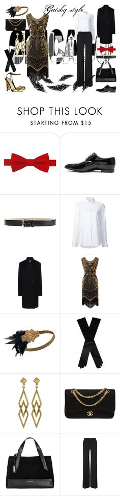 """Gatsby style"" by lulochka ❤ liked on Polyvore featuring Tommy Hilfiger, Jil Sander, Alexander McQueen, Misha Nonoo, STELLA McCARTNEY, Dents, Auden, Chanel, Tignanello and Gatsby"