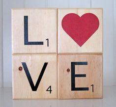 Scrabble Wood Blocks!