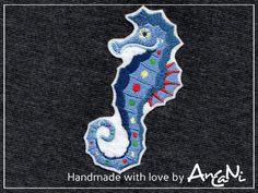 Aufnäher Seepferdchen ♥ Applikation Seepferdchen von AnCaNi auf DaWanda.com