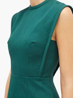 Emilia Wickstead Elisabeth A-line cloqué midi dress 80s Fashion, Look Fashion, Fashion Dresses, Womens Fashion, Fashion Tips, Fashion Trends, Fashion Hacks, Fashion Essentials, Fashion 2020