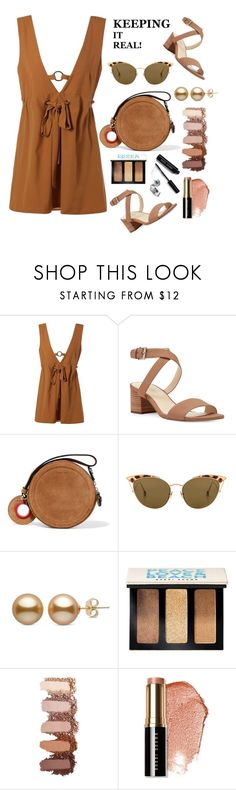 """Mocha - June 2017"" by foxxyslang ❤ liked on Polyvore featuring Nine West, Carven, Ahlem and Bobbi Brown Cosmetics"