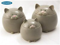 Here Lil Kitty Canister Set (3-pc.) by Del Rey