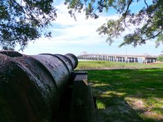 Historic Cannons on the Waterway of Beaufort, SC #beaufortsc #luvBFT