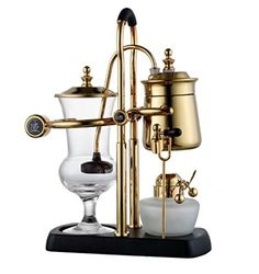 Diguo Belgian Belgium Luxury Royal Family Balance Syphon Coffee Maker Gold Color Top Grade >>> Check this awesome image : Coffee Maker Alcohol Lamp, Ways To Make Coffee, Best Coffee Maker, Coffee Shop, Expensive Coffee, Best Lunch Bags, Unique Gadgets, Maker Shop, Espresso Maker