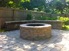 Cool idea for converting a firepit to seating area when too hot to use