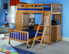 Right Angle Nesting Bunk Bed Bunk Bed Study Pinterest
