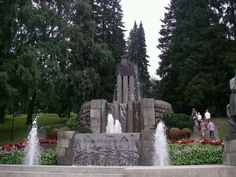 Näsinpuisto Finland, Mount Rushmore, Fountain, Outdoor Decor, Nature, Travel, Naturaleza, Trips, Water Well
