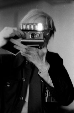 Andy warhol and a polaroid