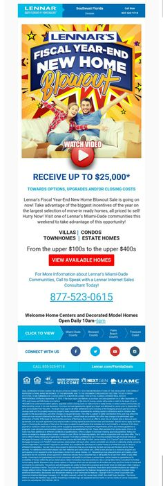 The best time to buy a new Lennar Home is now! It's the fiscal year end blowout! http://bit.ly/Lennar1