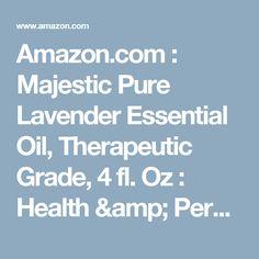 Amazon.com : Majestic Pure Lavender Essential Oil, Therapeutic Grade, 4 fl. Oz : Health & Personal Care