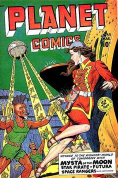 Welcome to my gallery of classic golden age comic covers. I've been collecting comic books for over 20 years and I wanted to be able to share some of my favorite classic covers. Sci Fi Comics, Old Comics, Horror Comics, Science Fiction Magazines, Science Fiction Art, Pulp Fiction, Fiction Novels, Vintage Comic Books, Vintage Comics