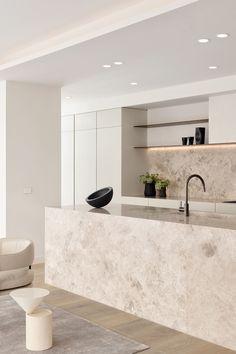 Minimal Kitchen Design, Luxury Kitchen Design, Kitchen Room Design, Best Kitchen Designs, Minimalist Kitchen, Home Decor Kitchen, Interior Design Kitchen, Home Kitchens, Kitchen Ideas