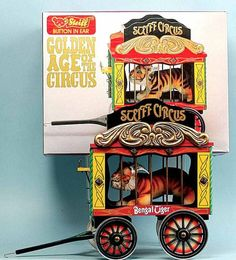 Steiff 010089 Circus Wagon with Tiger Golden Age of Circus