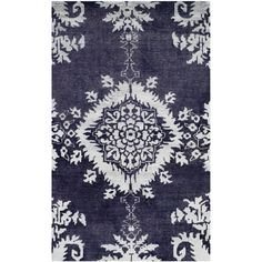 Safavieh Hand-knotted Stone Wash Deep Purple Wool/ Cotton Rug (4' x 6')   Overstock.com Shopping - The Best Deals on 3x5 - 4x6 Rugs