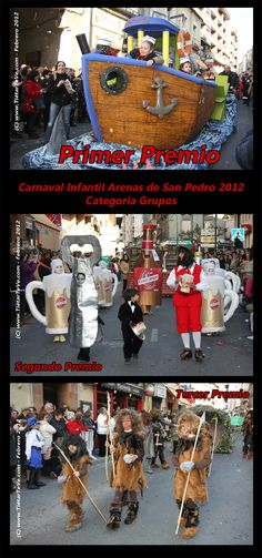 Carnaval Infantil 2012 de Arenas de San Pedro. Premios de Grupos.
