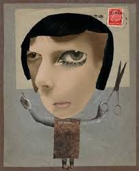"""Alan Magee, """"Portrait of Hannah Höch,"""" digital photomontage on dye sub paper, 10 x 8 inches. Hannah Hoch was one of the few women associated with the Dada movement and a pioneer of photomontage. Dada Collage, Collage Kunst, Art Du Collage, Op Art, Collage Artists, Mixed Media Collage, Canvas Collage, Collages, Photomontage"""
