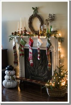 I need to close off fireplaces upstairs and paint with chalkboard paint like this one.