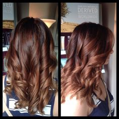 "Soft ombré ""sombre"" chestnut brown fade amber Heater, Gorgeous Salon, Salisbury, MD, (410)677-4675"
