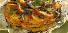 Il-Trafiletto: Teglia di patate pomodori e acciughe ⧫ Ricette per...