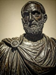 Bust of Lucius Junius Brutus one of the first co-consuls of the Roman Republic by Ludovico Lombardo 1550 CE Bronze | da mharrsch