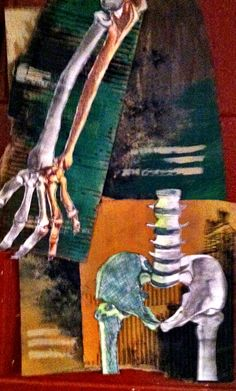 Art of Anatomy 2013 Skeleton Muscles, Skeleton Drawings, Anatomy Drawing, Sketchbook Ideas, Altered Books, Art School, Robot, Mixed Media, Statue