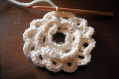 How to broomstick lace in the round.