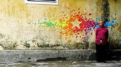 Papierowy street art EXAMPLE.PL