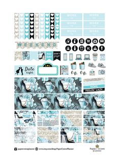 50% OFF SALE/ PRINTABLE Planner Stickers/Erin от PaperCrownPlanner