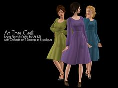 """I believe YanderePlum was inspired by Celtic Woman's concert at Slane Castle to make these dresses.  Specifically, she seemed to like what the singers were wearing when they sang """"At the Ceili."""""""