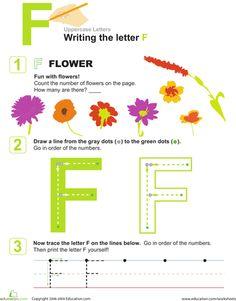 Worksheets: Letter F