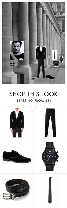 """""""outfit JUDE LAW"""" by mazzagliadavide on Polyvore featuring Armani Collezioni, Dior Homme, Dolce&Gabbana, Tod's, Emporio Armani, Dockers, Lardini, men's fashion e menswear"""