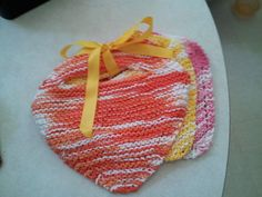Over the head baby bibs - fun because it is the classic knit wash clothes with a twist