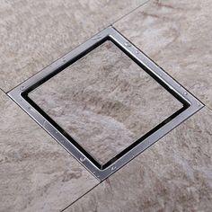 Cheap Envío gratis de inserción del azulejo del piso plaza rejillas de baño ducha Drain 110 x 110 o 150 x 150 mm, 304 de acero inoxidable, Compro Calidad Desagües directamente de los surtidores de China: Envío y dirección