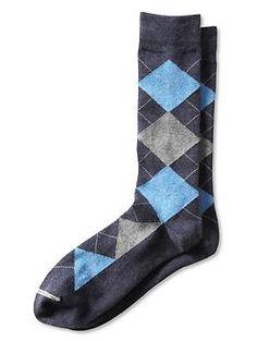 Pima cotton multi-argyle sock | Banana Republic