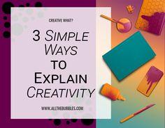 3 Simple Ways To Explain Creativity Cute Characters, Simple Way, Encouragement, Bubbles, Creativity, Words, Organization, Horse
